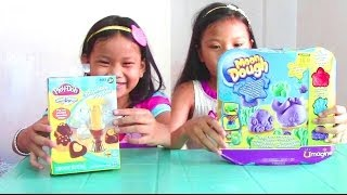 Play Doh Chocolate Popper and Moon Dough Ocean Pals - 2 Play Dough Sets