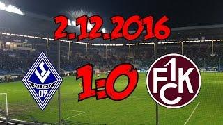 SV Waldhof Mannheim 1:0 1. FC Kaiserslautern II - 2.12.2016 - Knapper Sieg für den Waldhof
