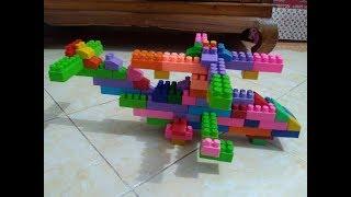 cara membuat helikopter dari lego