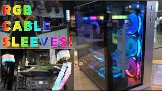 Lian Li Coverage Computex 2018 - RGB cases AND cable shroud!