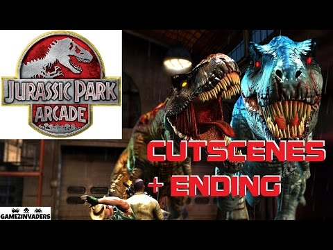 Jurassic Park Arcade! Awesome Arcade Shooter! Cut Scenes / CGIs / Cinematics
