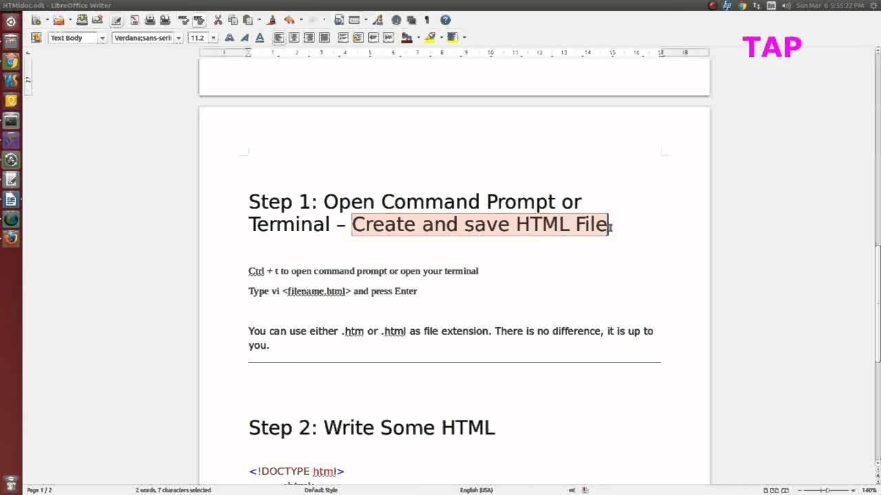 HTML Editors in 3 Simple Steps (in Ubuntu)