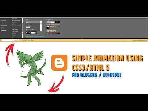 How to create Animated Header Banner for Blogger (Blogspot) using CSS3/HTML5