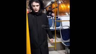 Не #адекват, #наркоман в автобусе!