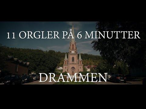 11 orgler på 6 minutter, orgler i Drammen
