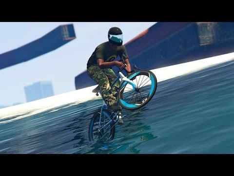 GTA 5 Online - INSANE BIKE RACE OVER WATER! (GTA V Online)