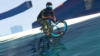 GTA 5 Online - INSANE BIKE RACE OVER THE OCEAN! (GTA V Online)