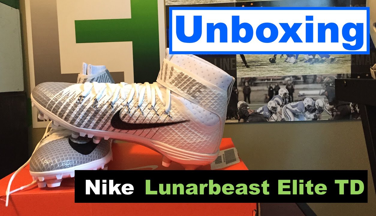 detailed look 8c8b7 6e401 Unboxing   Nike Lunarbeast Elite TD Cleats - YouTube