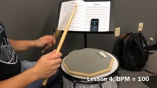 Alfred Drum Method Book 1, Lesson 4