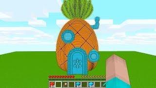 НУБ ПОСТРОИЛ ДОМ СПАНЧ БОБА В Майнкрафте! Minecraft Мультики Майнкрафт троллинг Нуб и Про