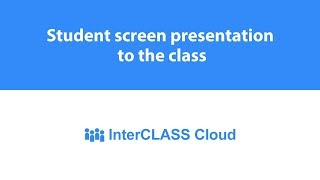 Student screen presentation to the class