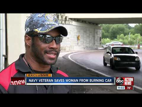 Mychal Maguire - Navy Veteran Rescues Woman From Fiery Crash In Tampa