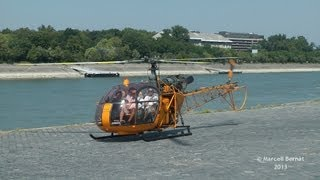 Aerospatiale SA 318C Alouette II Full Startup and Takeoff from Dráva Heliport
