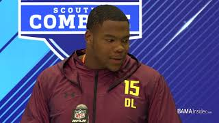 Da'Ron Payne at the NFL Combine