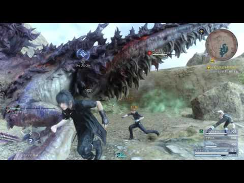 Final Fantasy XV – Bandersnatch Boss Fight Gameplay [1080p HD] PS4 PRO