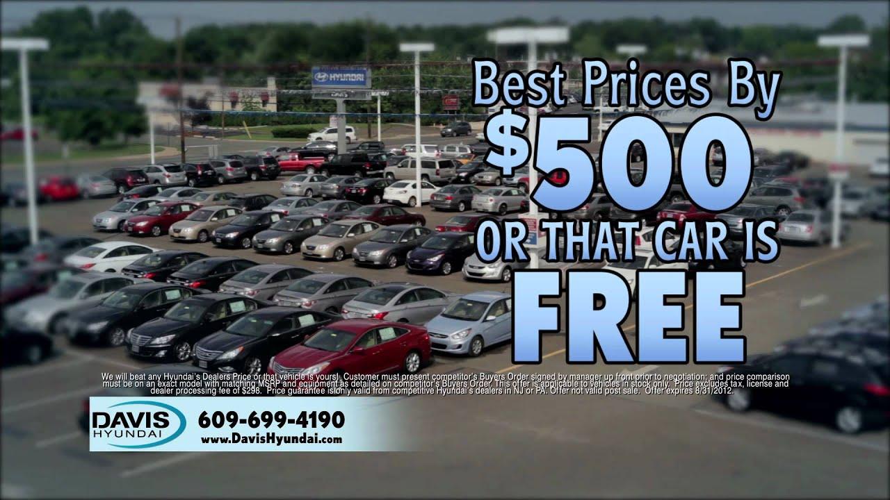 Davis Hyundai Will Beat Any Dealers Price | 609 883 3500 | NJ Hyundai Dealer