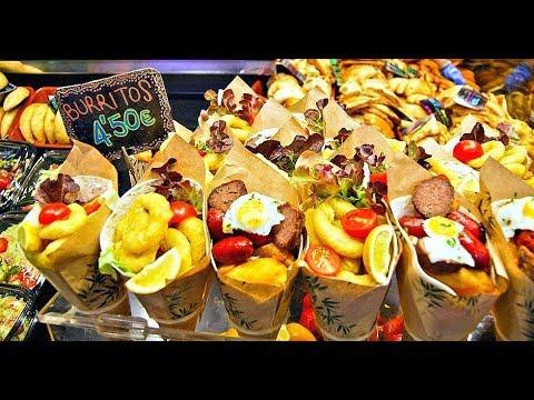 Food Fun Tasty Market La Boqueria 4k