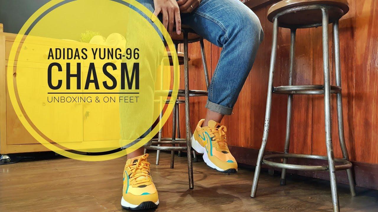 diseños atractivos moda de lujo colores armoniosos ADIDAS YUNG-96 CHASM UNBOXING & ON FEET - YouTube
