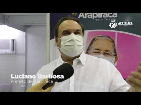 Prefeito Luciano Barbosa é vacinado e destaca trabalho da equipe de saúde