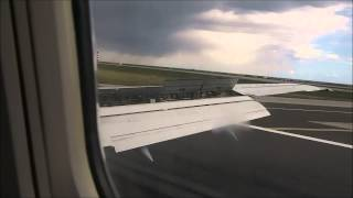 Lufthansa classic Boeing 737-300 approach and landing into NCE