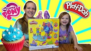 PLAYDOH CUPCAKE CELEBRATION PLAYSET with MY LITTLE PONY! Review and Play