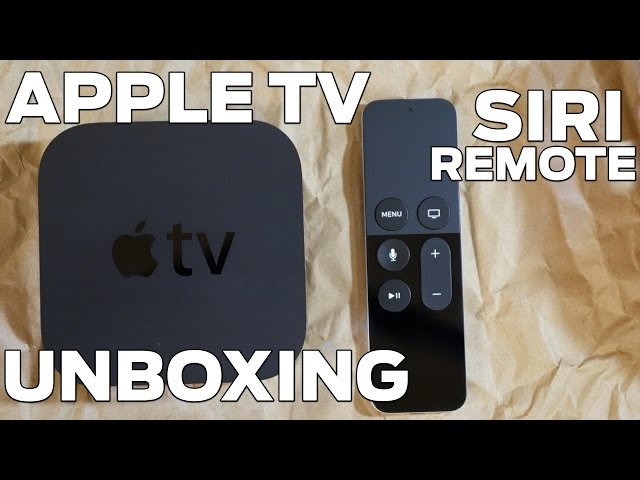 FIRST APPLE TV WITH SIRI REMOTE UNBOXING!