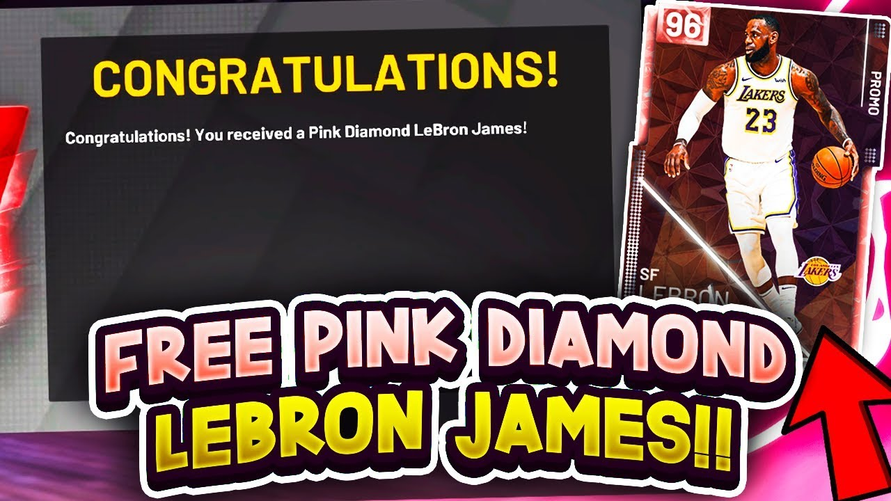 eca40884a378 FREE PINK DIAMOND LEBRON JAMES LOCKER CODE!! NBA 2K19 MyTeam FREE ...