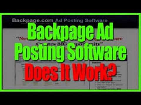 Backpage ad poster 2.0 review - how to post over 400 ads on backpage without getting ghosted
