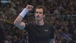 2015 Barclays ATP World Tour Finals - Murray hits incredible smash v Wawrinka