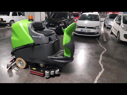 İpc Gansow CT160  Sürücülü Zemin Temizleme Makinası Otomatı Maktem Makina