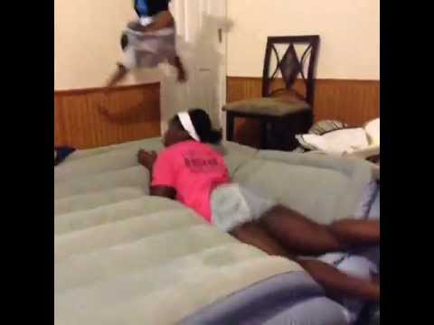 FLYING KID OFF AIR BED FAIL VINE