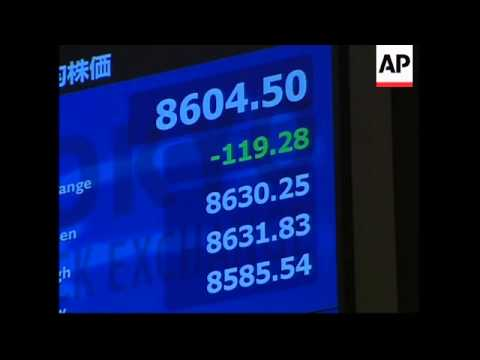 Markets down, Japan PM comments on fiscal stimulus