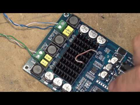 TPA3116D2 120 WPC Bluetooth Audio Board test run