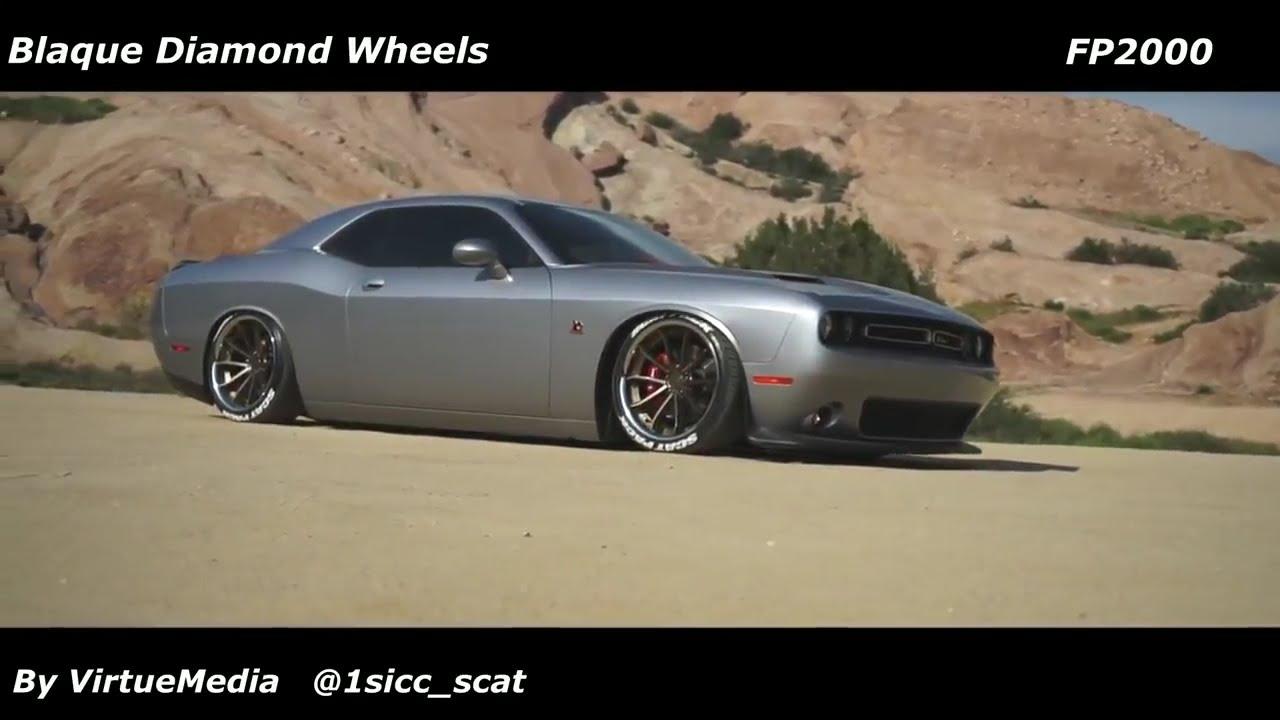 Bagged Dodge Challenger Scatpack Srt On Blaque Diamond