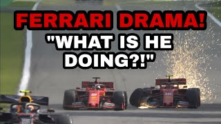 Vettel SCREAMING on the radio IN GERMAN AFTER DNF WITH LECLERC!