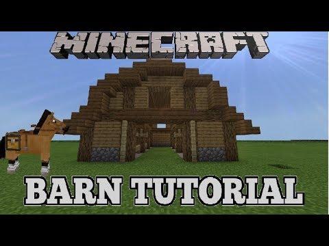 Minecraft Simple Horse Stable Tutorialbarn Tutorial Fast Easy