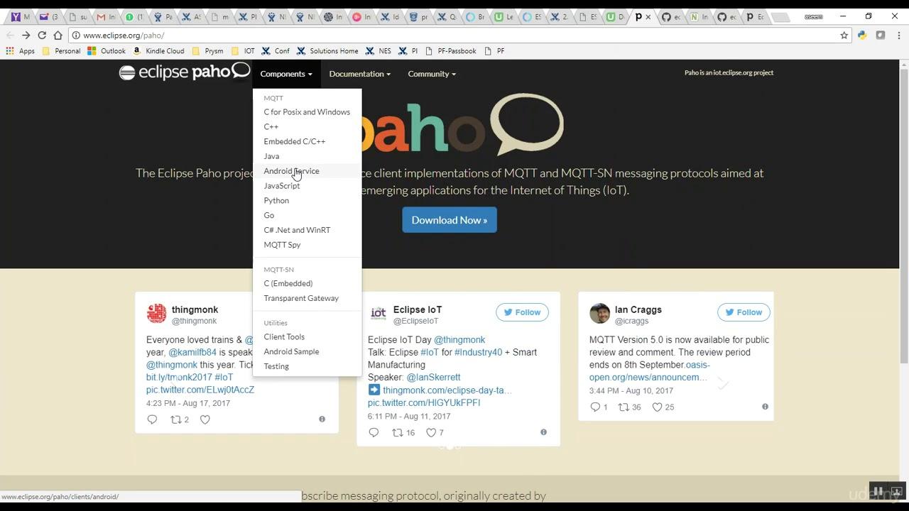 Develop MQTT Client Android App : Eclipse Paho API Resources