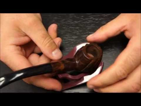 Ebony Wood Smoking Tobacco Pipe with Carved Design