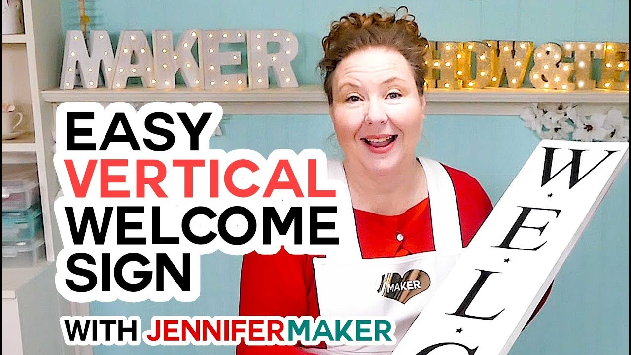 Repeat Vertical Welcome Sign on a Cricut: The Trick to