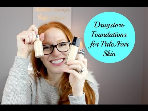 Drugstore Foundation for Fair/Pale skin: Swatches and First Impressions