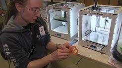 Tuima kokeili 3D-tulostamista Sellon kirjastossa