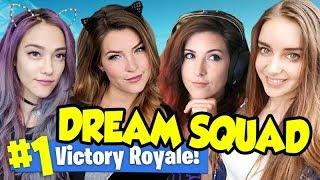 """4 Girls 1 Furry"" - Fortnite Dream Team Win Streak!"