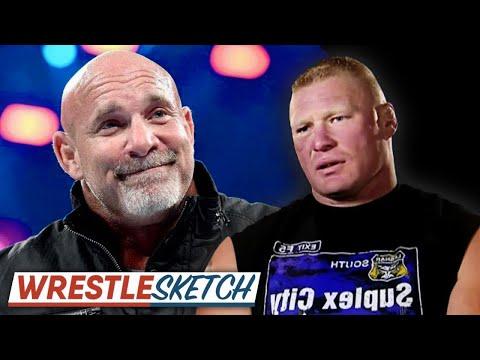 When Goldberg & Brock Lesnar Plan Out Their Survivor Series Match...   WrestleSketch #4