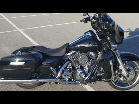 "2014 Harley Street Glide with 4"" Rinehart True Duals"