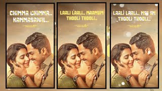 Chinna chinna kannasaivil song 💞tamil romantic Song💖 full screen whatapp status 💞 Murali creation
