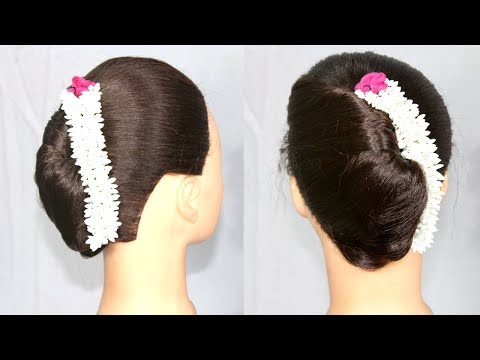 easy french bun hairstyle for long hair | french Roll | french Twist | hair style girl | hairstyles thumbnail