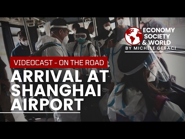 Arrival at Shanghai Airport