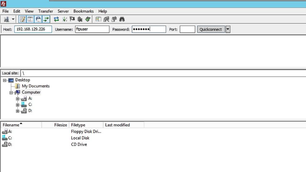 Windows Server 2012 - Part 4: FTP Server - Testing Access