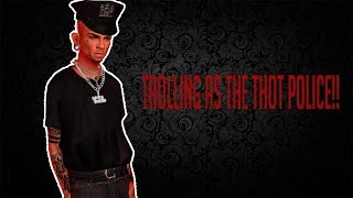 IMVU- TROLLING AS THE THOT POLICE!!