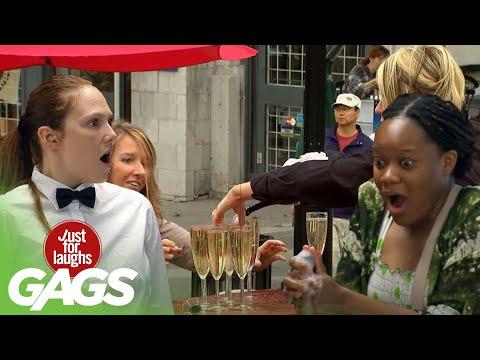Beer, Wine & Champagne Pranks | Just for Laughs Compilation